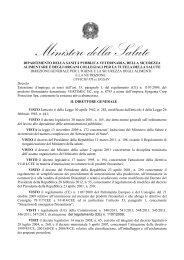 decreto dirigenziale 31 maggio - Ministero della Salute