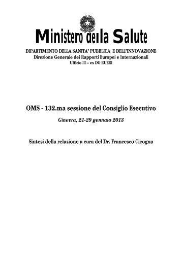 Relazione - Ministero della Salute