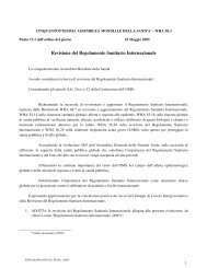 Regolamento Sanitario Internazionale (2005) - Ministero della Salute