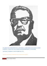 palabras del presidente de la republica ... - Salvador Allende