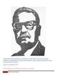 mensaje del presidente de la republica ... - Salvador Allende