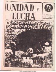 Unidad y Lucha N°34 - Salvador Allende