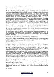 Posición y actuación del Partido Socialista en la ... - Salvador Allende