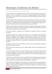 Homenaje al Gobierno de Arbenz (1956) - Salvador Allende