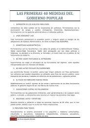 las primeras 40 medidas del gobierno popular - Salvador Allende