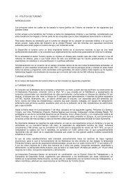 VII. - POLITICA DE TURISMO INTRODUCCION ... - Salvador Allende