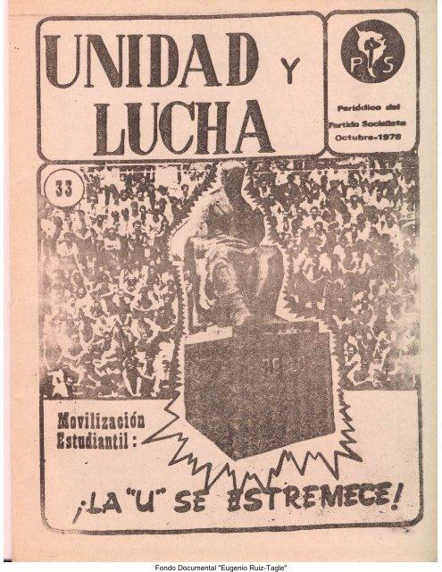 Unidad y Lucha N°33(México) - Salvador Allende