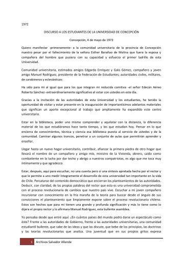 universidad de concepción - Salvador Allende