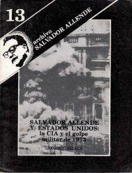 Archivo Salvador Allende N° 13