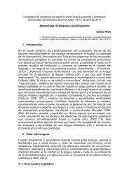 Aprendizaje de lenguas y plurilingüismo - Universidad del Salvador