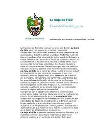 Facultad de Filosofía y Letras - Universidad del Salvador