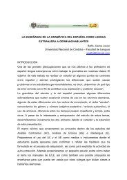 La enseñanza de la gramática del español como lengua extranjera ...