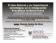 El gas natural y su importancia estratégica en la Integración ...