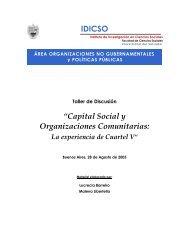Capital Social y Organizaciones Comunitarias - Universidad del ...