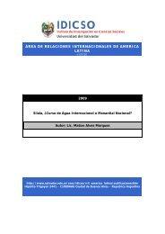 Silala, Â¿Curso de Agua Internacional o Manantial Nacional