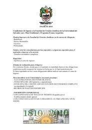 INGRESO 2010 Condiciones de Ingreso a la Facultad de Ciencias ...