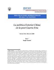 La política exterior China en la post Guerra Fría - Universidad del ...