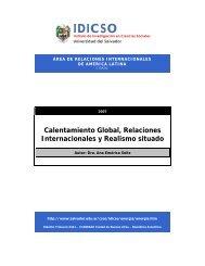 Calentamiento Global, Relaciones Internacionales y Realismo situado
