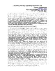 LOS CURSOS A DISTANCIA: RECOMENDACIONES DIDÁCTICAS ...