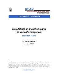 IDICSO Metodología de análisis de panel de variables categóricas