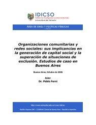 Organizaciones comunitarias y redes sociales - Universidad del ...