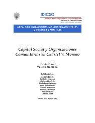 Capital Social y Organizaciones Comunitarias en Cuartel V, Moreno