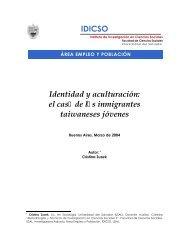 Identidad y aculturación - Universidad del Salvador