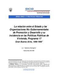 La relación entre el Estado y las ONGDs y su incidencia en las ...
