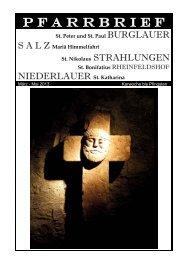 P F A R R B R I E F - Gemeinde Salz