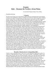 Brief von Pater Felber mit einer Projektbeschreibung