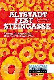 Programmfolder - PDF Format, 721 kB - Altstadt Salzburg