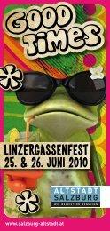 Folder Linzergassenfest Download: PDF Format - Altstadt Salzburg