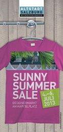 Folder Sunny Summer Sale - PDF Format, 394 kB - Altstadt Salzburg