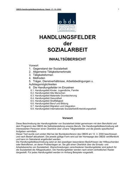 Handlungsfelder Der Sozialarbeit Tirol Sozialarbeit At