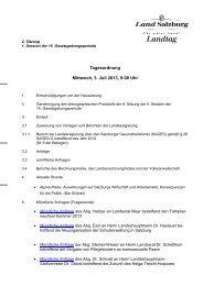 Tagesordnung Mittwoch, 3. Juli 2013, 9:00 Uhr - Land Salzburg