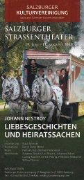 LIEBESGESCHICHTEN UND HEIRATSSACHEN - Salzburger ...