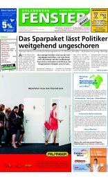 Das Sparpaket lässt Politiker weitgehend ungeschoren - Salzburger ...
