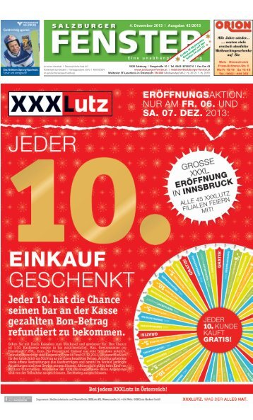 4. Dezember 2013 | Ausgabe: 42/2013 - Salzburger Fenster