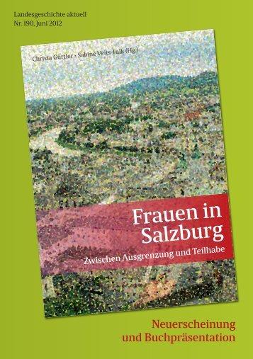 Frauen in Salzburg - Verein der Freunde der Salzburger Geschichte