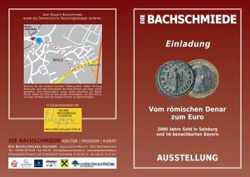 BACHSCHMIEDE - Verein der Freunde der Salzburger Geschichte
