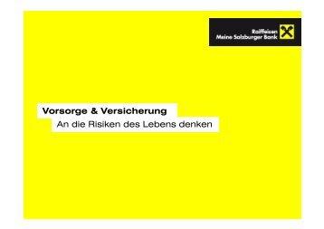 Präsentation Versicherung - Salzburger Schulsponsoring