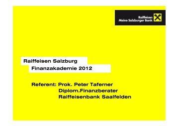 Wirtschaft - Salzburger Schulsponsoring