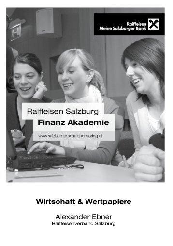 1x1 der Wertpapiere - Salzburger Schulsponsoring