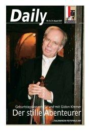 Geburtstagskonzert für und mit Gidon Kremer - Salzburger Festspiele