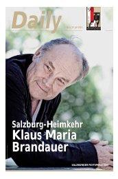 Daily #5 als PDF downloaden - Salzburger Festspiele