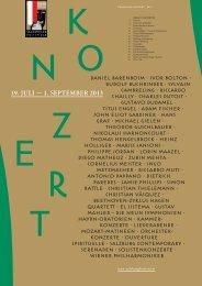 Magazin Konzert 2013 zum Download - Salzburger Festspiele
