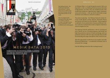 Media data 2013 - Salzburger Festspiele