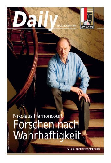 Nikolaus Harnoncourt - Salzburger Festspiele