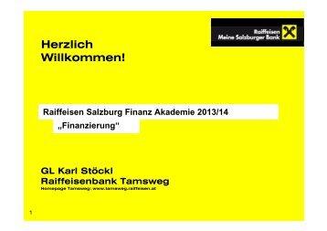 Präsentation Finanzierung - Salzburger Schulsponsoring