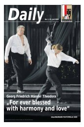 """""""For ever blessed with harmony and love"""" - Salzburger Festspiele"""